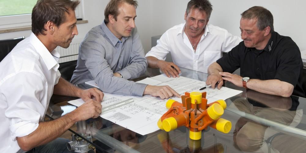 Besprechung der FEIG-Gerueste-GmbH.
