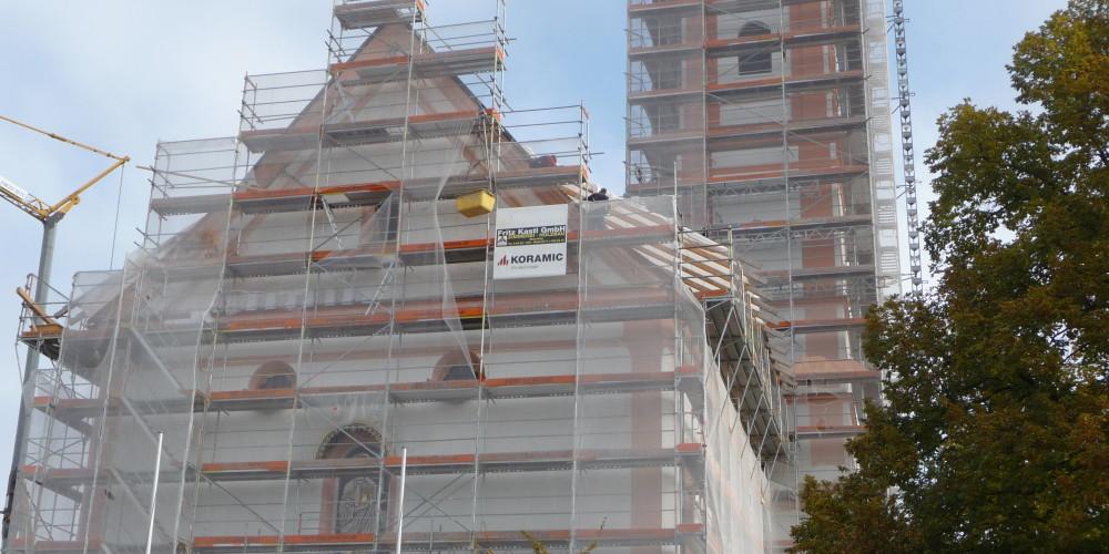 Denkmalschutz - Kirchensanierung Fassadengerüst