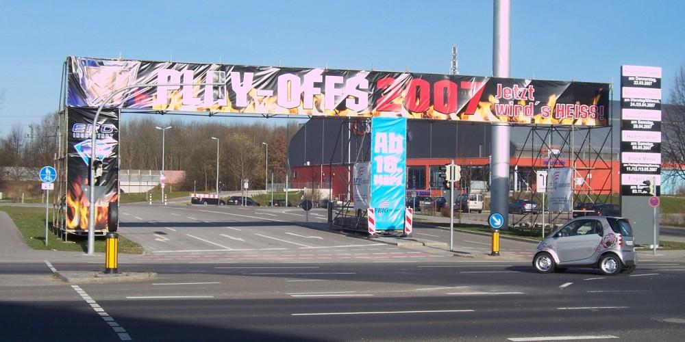 Werbung die wirkt mit den Geruesten der FEIG-Gerueste-GmbH.