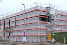 Fassadengeruest von der FEIG-Gerueste-GmbH.