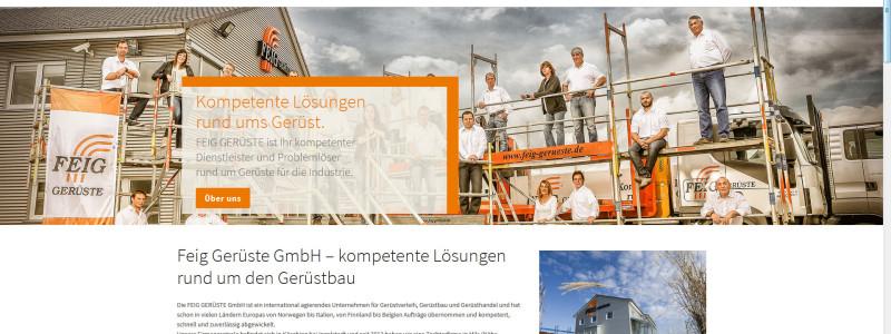 Neue Homepage der Feig Gerüste GmbH